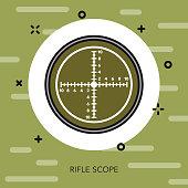 Rifle Scope Military Icon