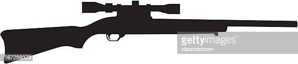 rifle silhouette - rifle stock illustrations