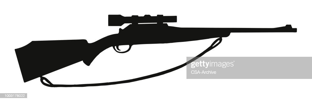 rifle with scope vector art getty images