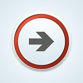 Right Arrow Sign illustration