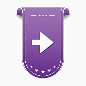 Right Arrow Violet Vector Icon Design