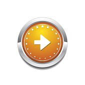 Right Arrow Yellow Vector Icon Button