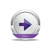 Right Key Circular Vector Purple Web Icon Button