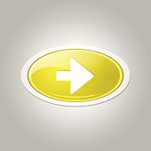 Right Key Circular Vector Yellow Web Icon Button