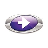Right Key Elliptical Vector Violet Web Icon Button