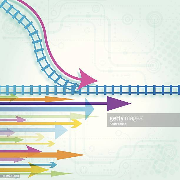 Right Track Arrow Background - Business Concept