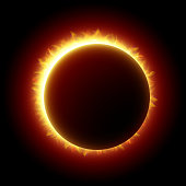 A ring of light in a solar eclipse