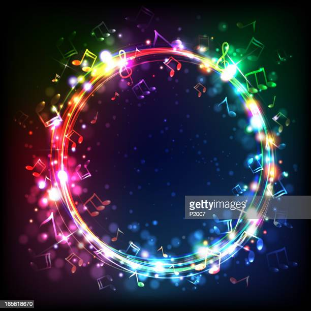 ring of music - musical note stock illustrations