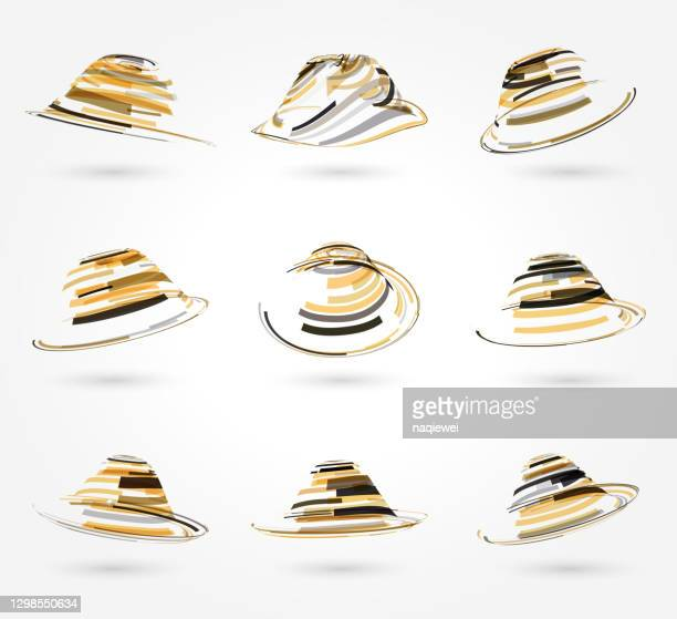 ring pattern icon collection,top hat - animated zebra stock illustrations