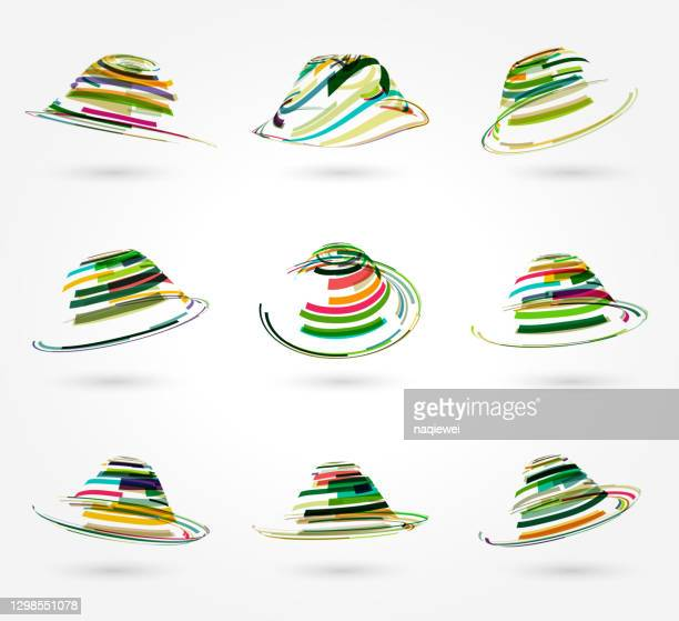 ring stripes pattern icon collection,top hat - animated zebra stock illustrations