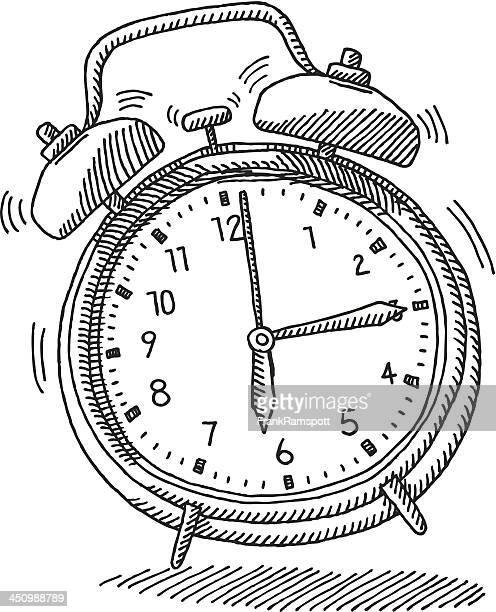 ilustrações de stock, clip art, desenhos animados e ícones de soar o alarme relógio manhã wake up de desenho - acordar