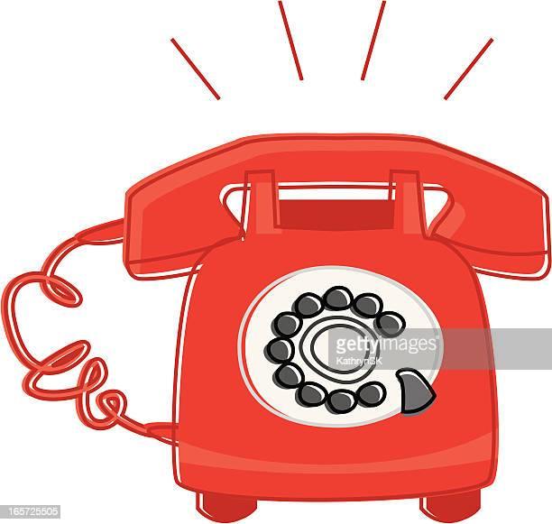Ringing Retro Phone