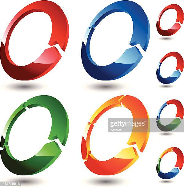 3D Rings (Colored)