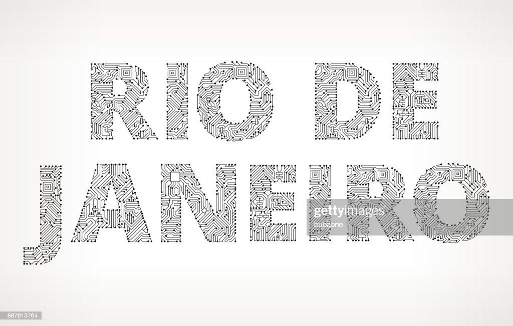 Rio De Janeiro Circuit Board Vector Buttons Vector Art   Getty Images
