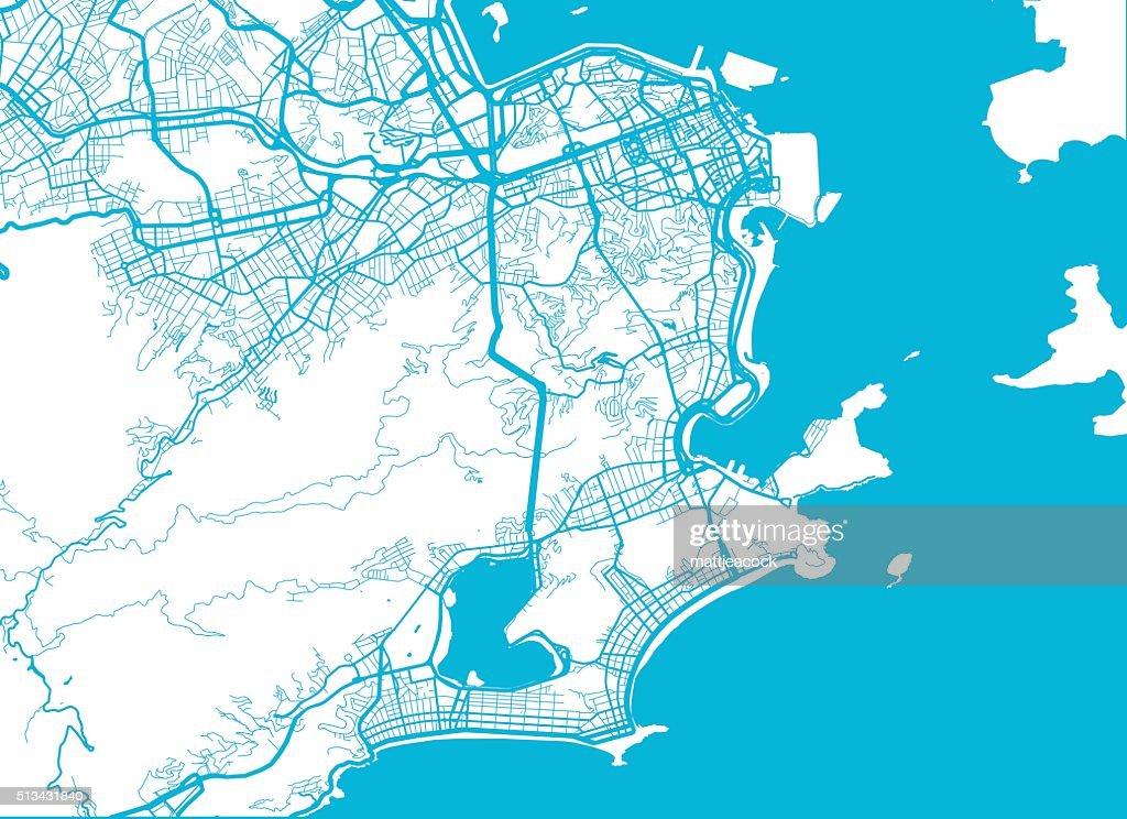Rio De Janeiro Stadt Karte Stock-Illustration - Getty Images