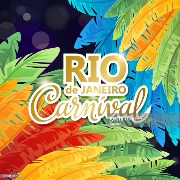 rio de janeiro samba parade - samba dancing stock illustrations, clip art, cartoons, & icons