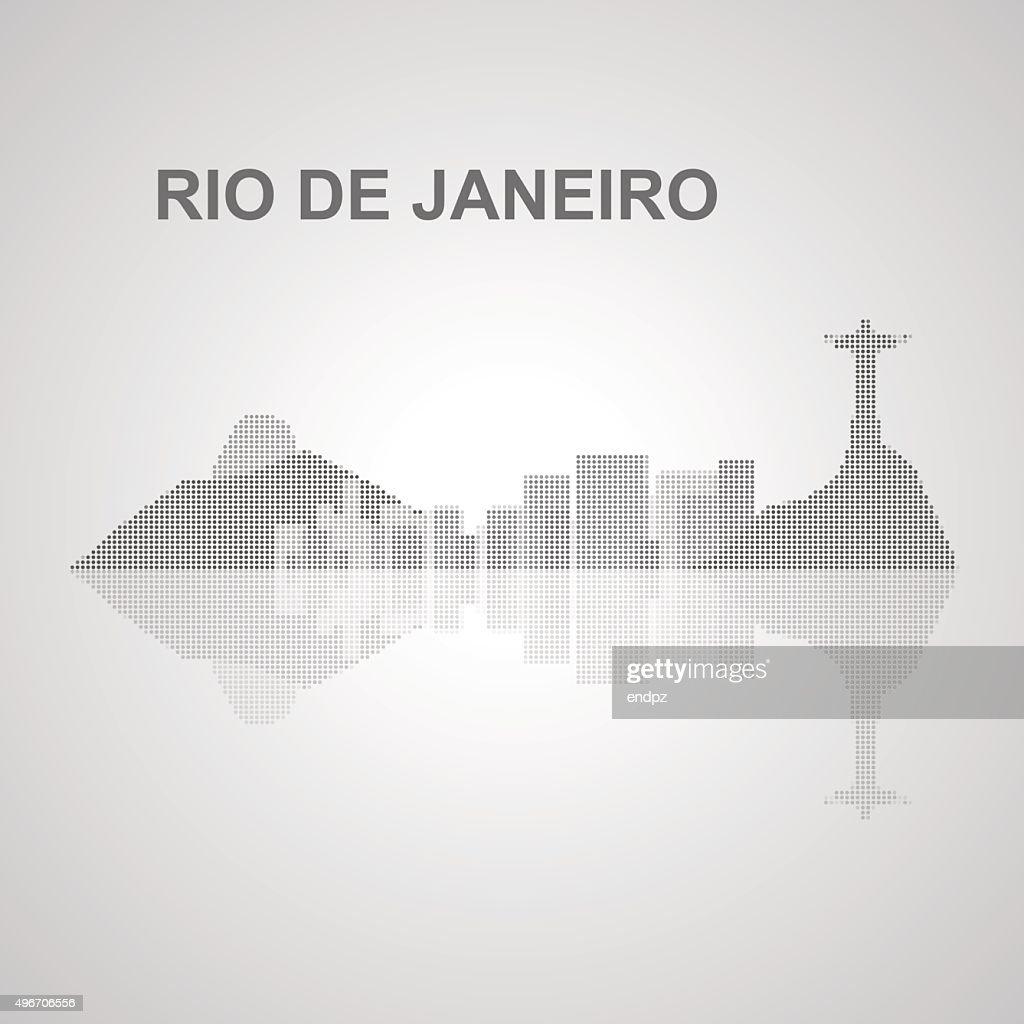 Rio de Janeiro skyline  for your design