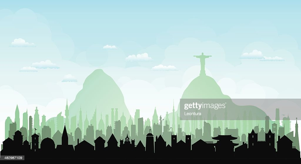 Rio de Janeiro (Each Building is Complete and Moveable) : stock illustration