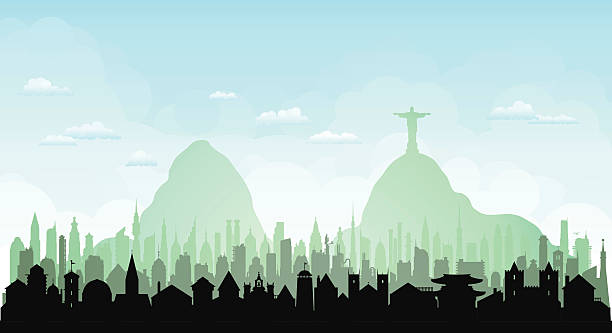 Rio De Janeiro (Each Building Is Complete And Moveable) Wall Art