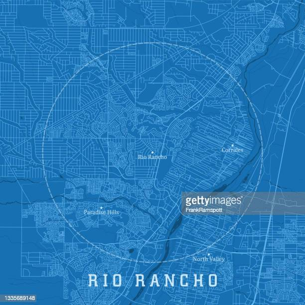 rio rancho nm city vector road map blue text - rio rancho stock illustrations