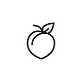 Ripe peach icon