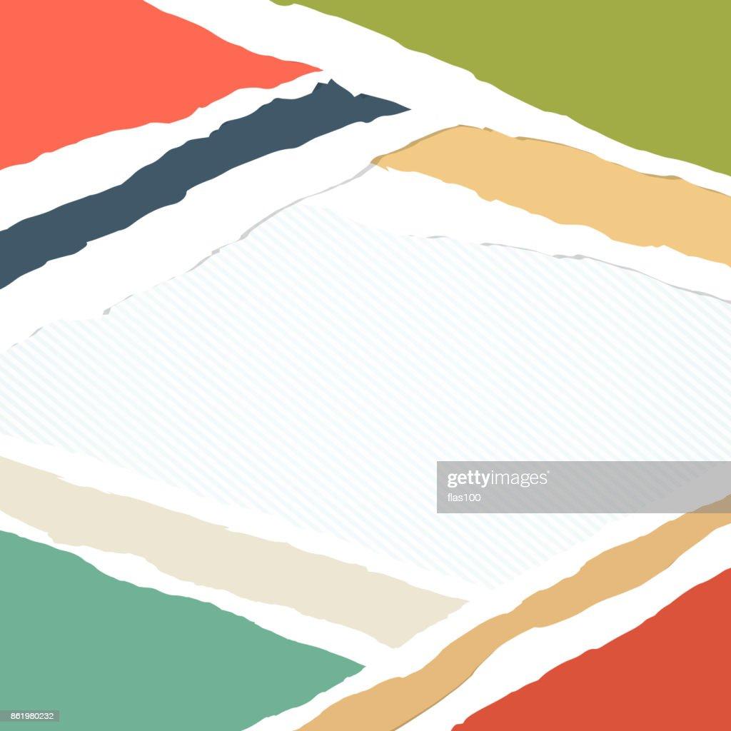 Farbiges Papier Gestreiften Hintergrund Stücke Aufgeklebt Sind ...