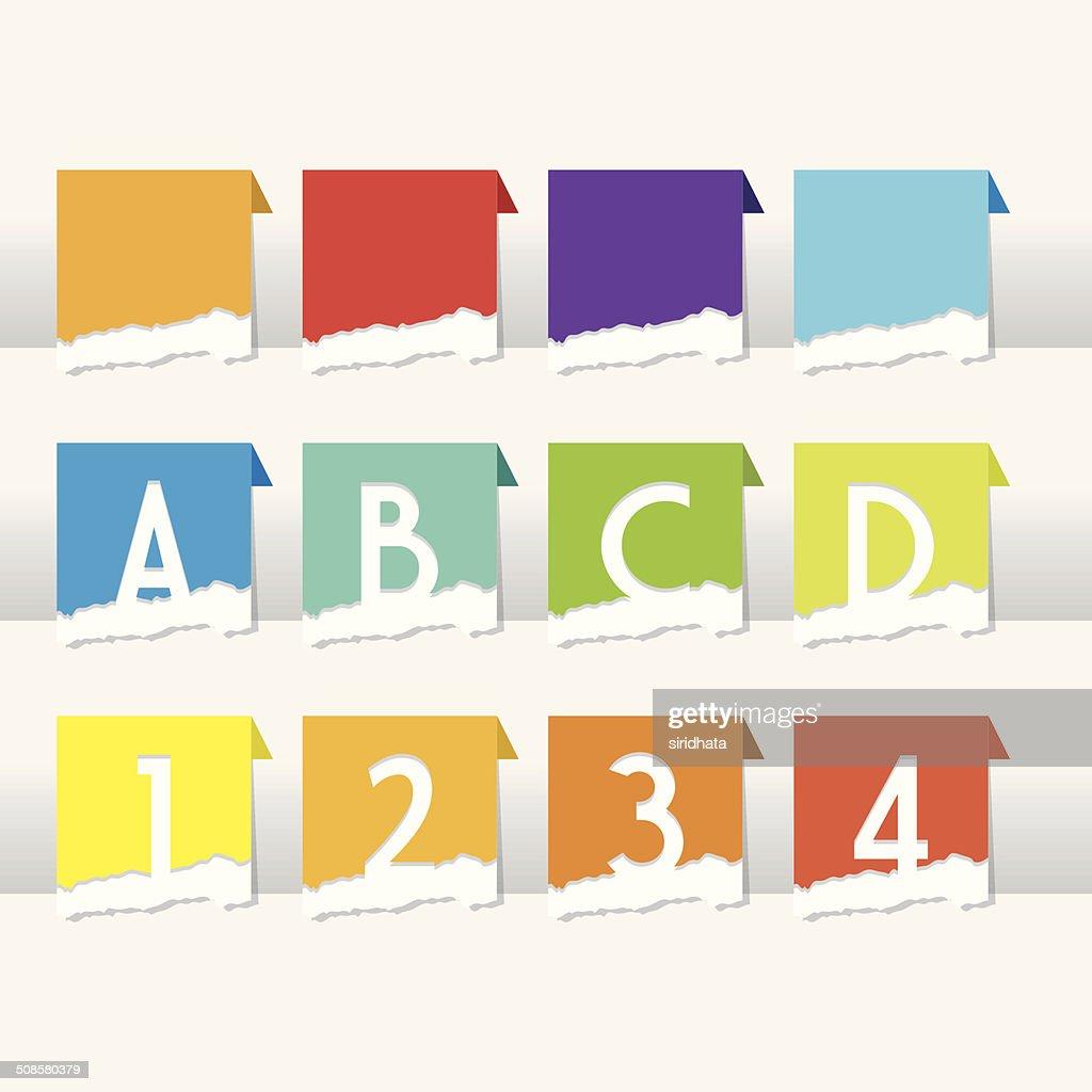 Divisori di carta strappata : Arte vettoriale