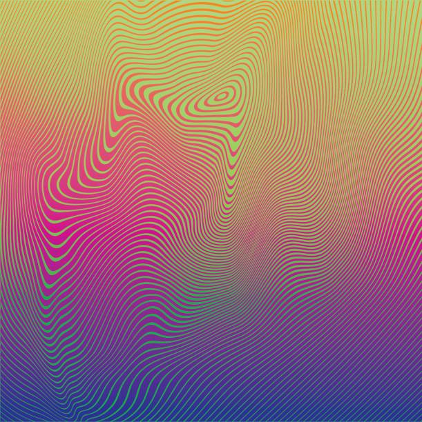 rippled halftone pattern abstract background - melting stock illustrations