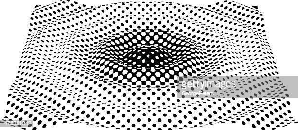 ilustrações, clipart, desenhos animados e ícones de ripples efeito.   arte em linha.   meio tom padrão. - oscilação curvada