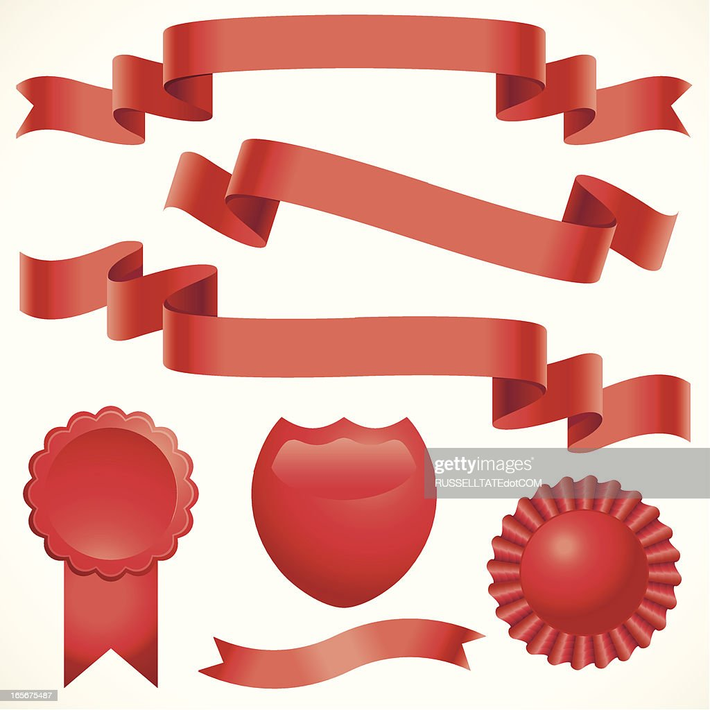 rippling red ribbons vector art getty images rh gettyimages com ribbon vector clipart awareness ribbon vector art