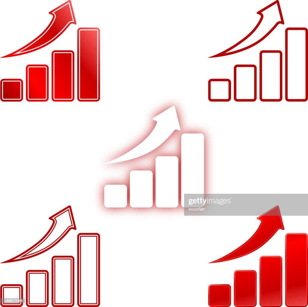 Rise up bar chart : stock illustration
