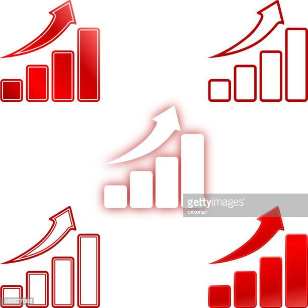rise up bar chart - fiscal year stock illustrations