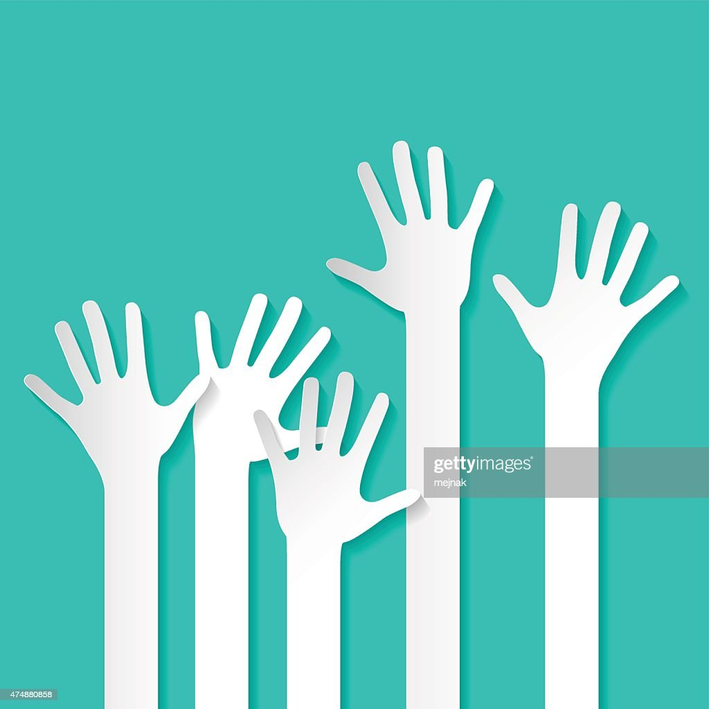 Rised Hands Vector