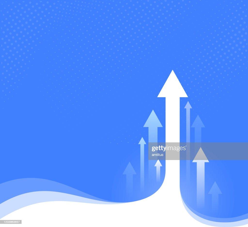 flechas ascendentes : Ilustración de stock