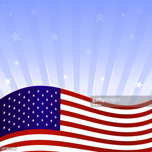 rising flag - politics and government stock illustrations, clip art, cartoons, & icons
