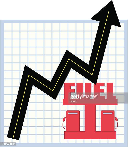 rising prices - gas prices stock illustrations, clip art, cartoons, & icons