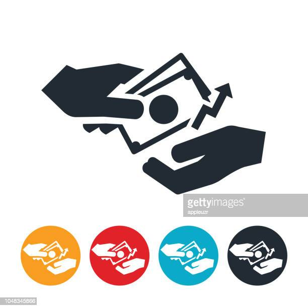 rising wages icon - paycheck stock illustrations, clip art, cartoons, & icons