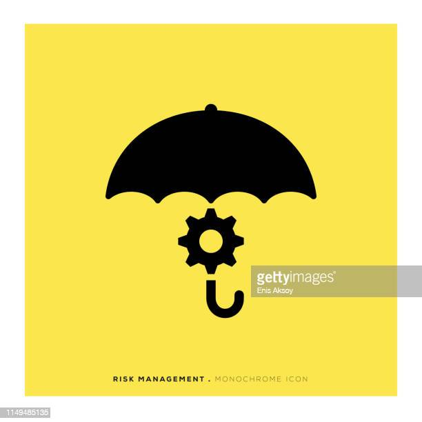 risk management monochrome icon - solid stock illustrations