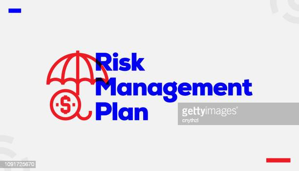 risk management plan concept design - head above water stock illustrations
