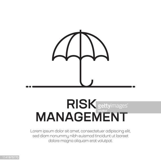 リスク管理ベクターラインアイコン-シンプルな細い線のアイコン、プレミアム品質のデザイン要素 - リスク管理点のイラスト素材/クリップアート素材/マンガ素材/アイコン素材