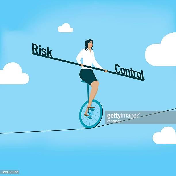ilustraciones, imágenes clip art, dibujos animados e iconos de stock de riesgo en comparación con el control - agilidad