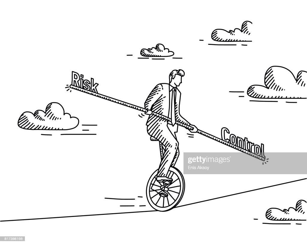 Risk Vs Control : stock illustration