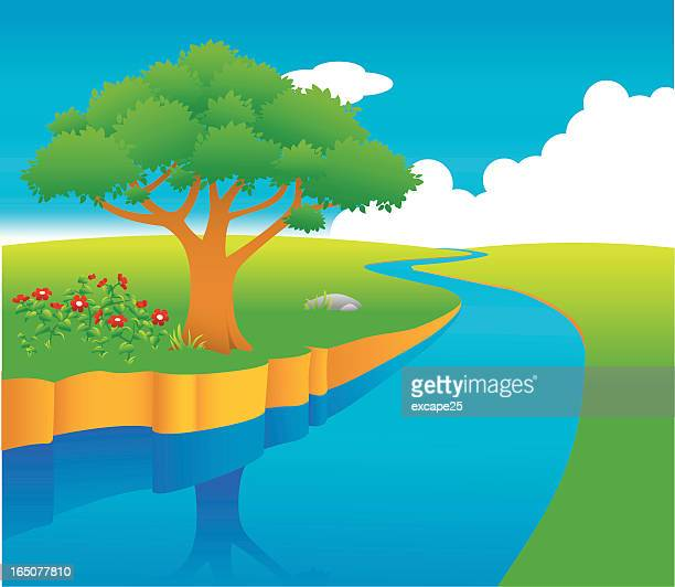 flowing river cartoon - photo #9