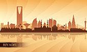 Riyadh city skyline silhouette background