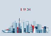 Riyadh skyline, vector illustration, flat design