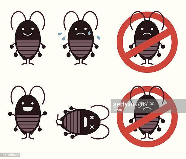ilustraciones, imágenes clip art, dibujos animados e iconos de stock de roaches - cucarachas
