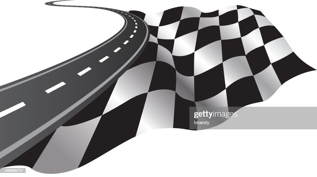 Road and Checkered Flag