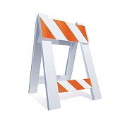 Road Barrier Illustration