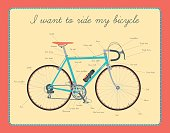 Road bicycle with text.