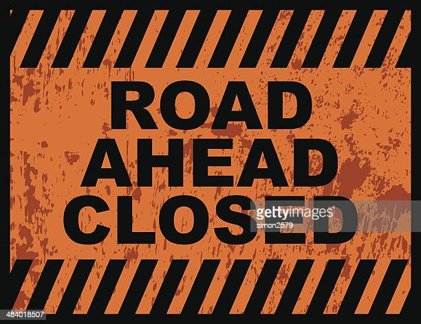 Road Closed-englisches Verkehrsschild